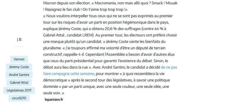 Elections législatives à Boulogne-Billancourt  Clipb836