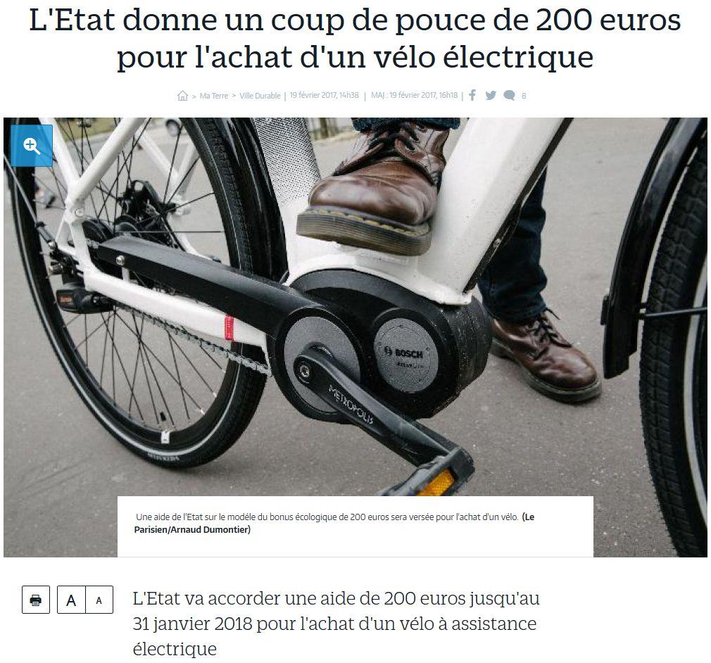 Subvention à l'achat de vélos à assistance électrique Clipbo30