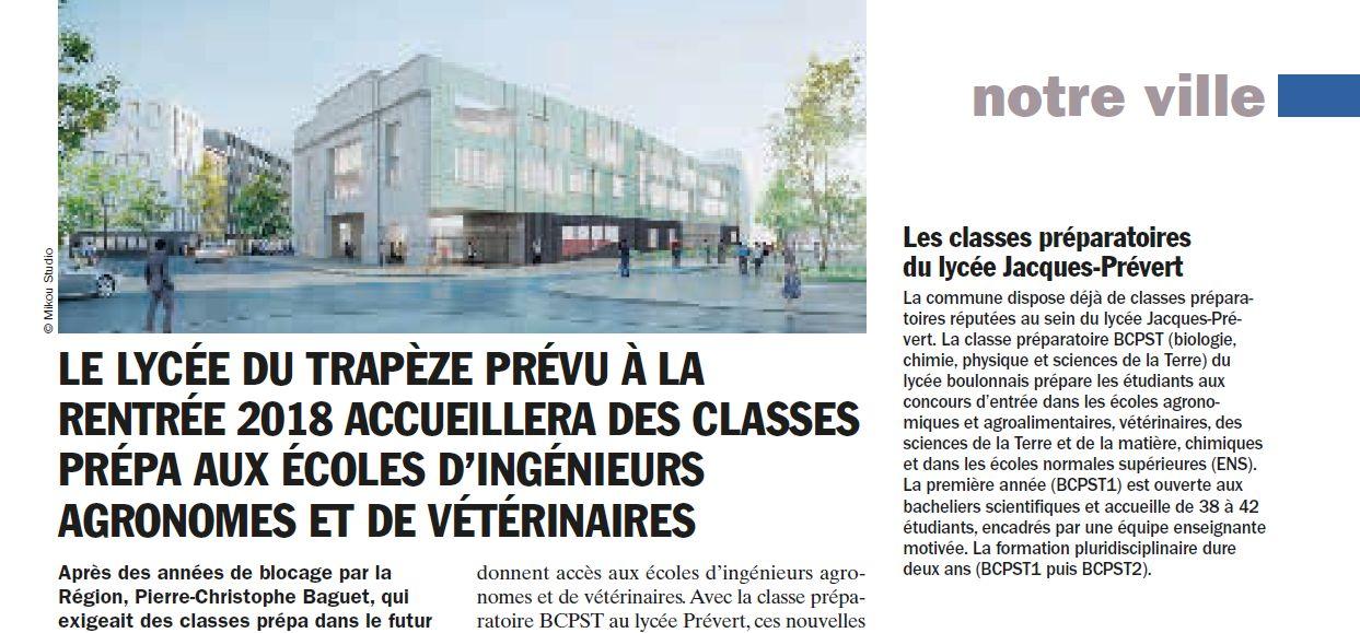 Informations sur le lycée du trapèze Clipbo60