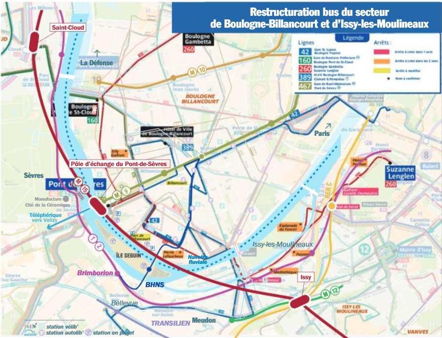 Carte des transports sur la ZAC Seguin Rives de Seine Transp10