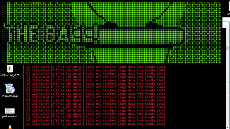 [EN STAND-BY] problème dmdext pour pinballfx2 / pinball arcade Dmdext10