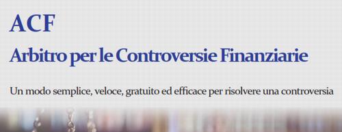 ARBITRO PER LE CONTROVERSIE FINANZIARIE (ACF) Acf10