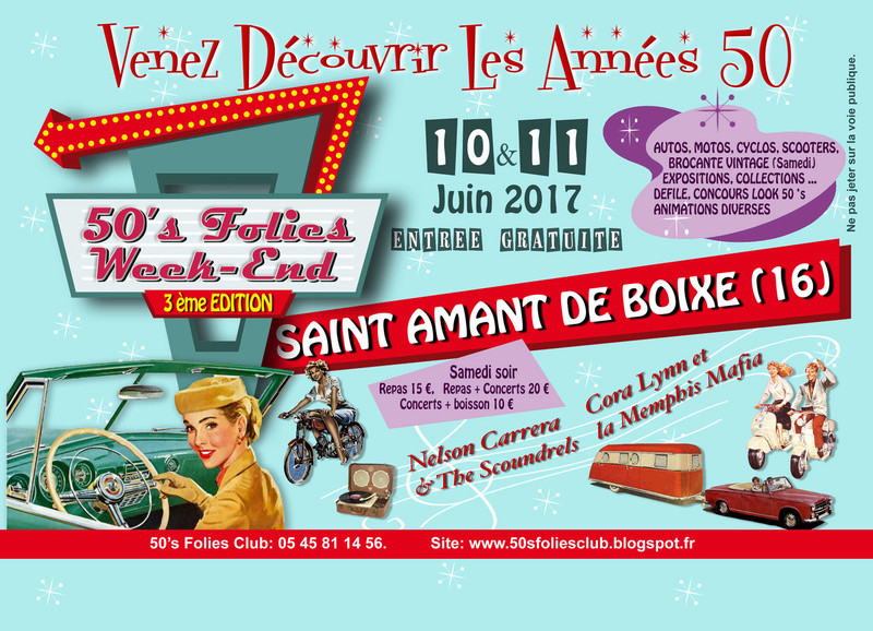 Fifties Folies week-end 10 et 11 juin 2017 en charente 50_s_f10