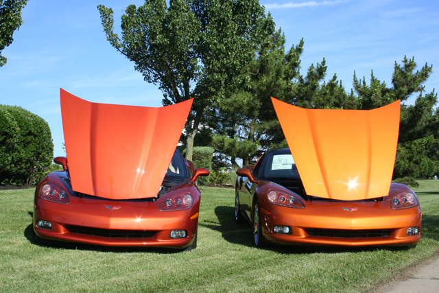 evo C6 cab daytona orange Sunset10