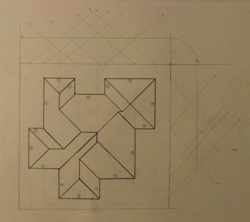 Exo Muller tâche K : corps de toit avec plusieurs annexes Captur10
