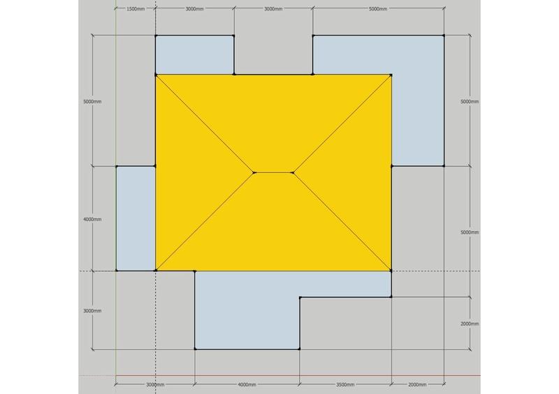 Exo Muller tâche K : corps de toit avec plusieurs annexes Image_17