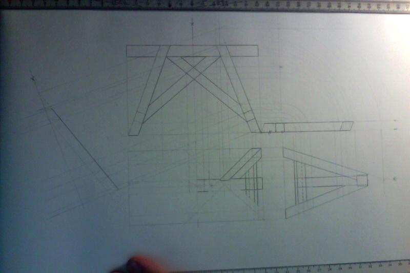 Exo Muller tâche K : corps de toit avec plusieurs annexes Tc010
