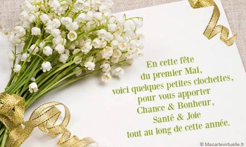 Bon 1er mai avec beaucoup de bonheur Muguet12