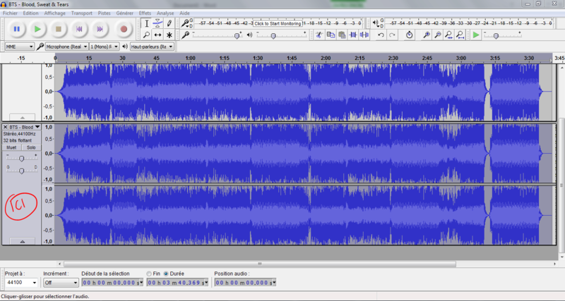 Trouver les harmonies d'une chanson avec l'aide d'Audacity Tuto310