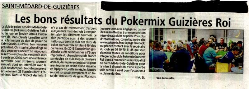 Un bel article concernant notre club!! Articl11