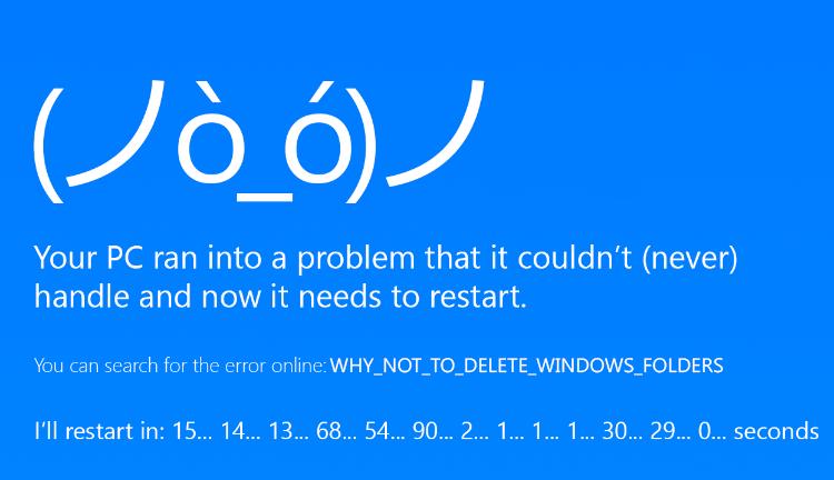 Windows: Ποιους φακέλους δε πρέπει να διαγράψετε ποτε Cea6ce10
