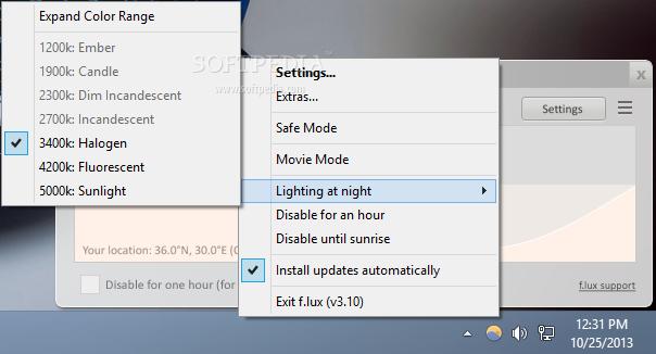 "Windows 10 Creators Update: Νέα λειτουργία ""Ρυθμίσεις νυχτερινού φωτισμού"" F-lux_10"