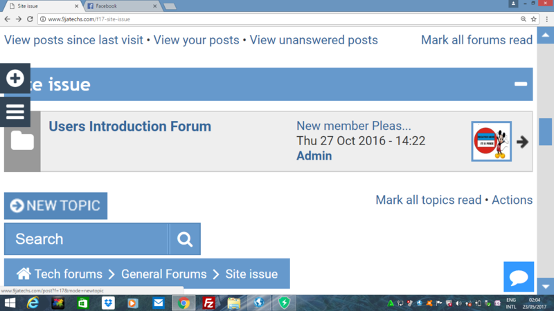 HOW  TO CREATE NEW TOPIC AT 9JATECHS FORUMS Screen12