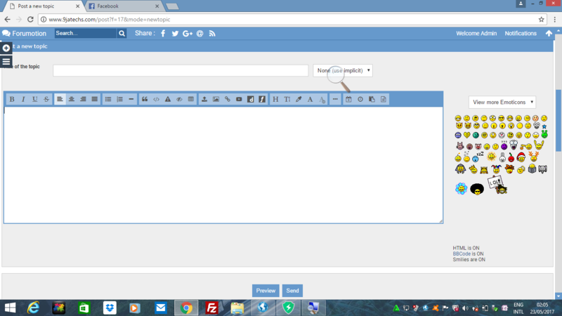HOW  TO CREATE NEW TOPIC AT 9JATECHS FORUMS Screen13