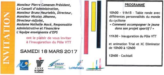 lycée la touche ploermel, inauguration du pole VTT Sans_t10