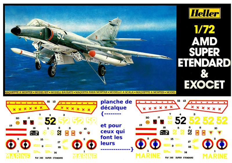 DASSAULT SUPER ETENDARD et missile EXOCET 1/72ème Réf 360 Notice  Cci08012