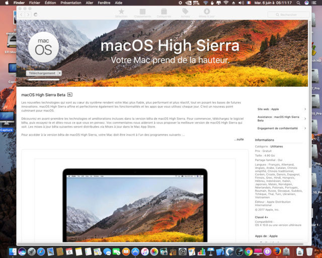 MacOS High Sierra 10.13 Beta Captur26
