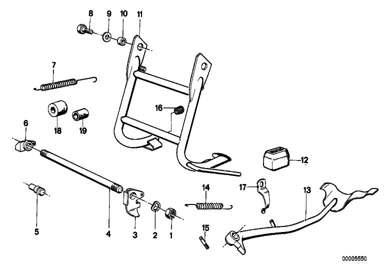 [R60/6] Installation de béquille latérale B0000910