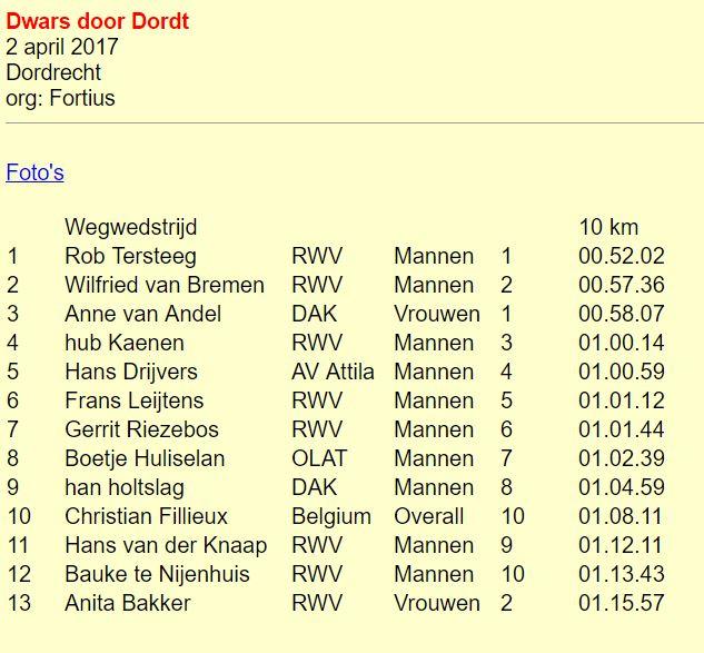 10 km de Dordrecht (NL) 2 avril 2017 10km_d10