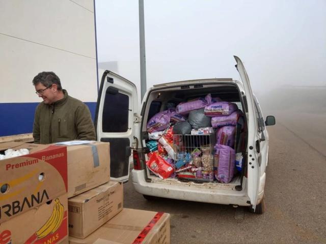6 jan, ook de 2 pallets zijn aangekomen bij Villa Felis 4012