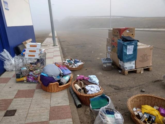 6 jan, ook de 2 pallets zijn aangekomen bij Villa Felis 4310