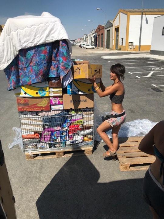 2 pallets voor Refugio la Candela Can6210
