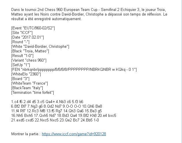 2EME COUPE EUROPEENNE D'ECHECS 960 PAR EQUIPES - Page 2 Erreme10