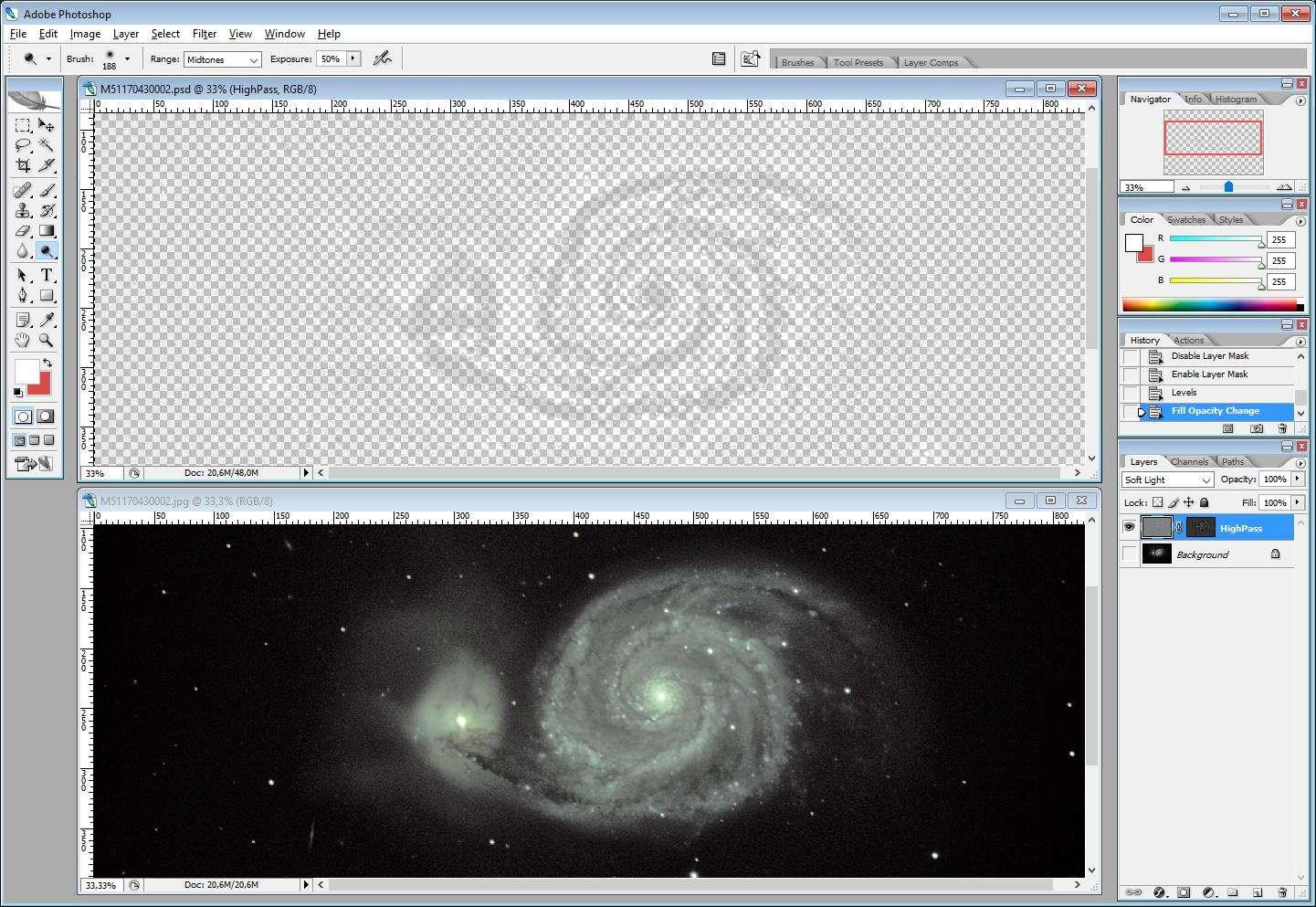 ImageProcessing : Technique HighPass 510