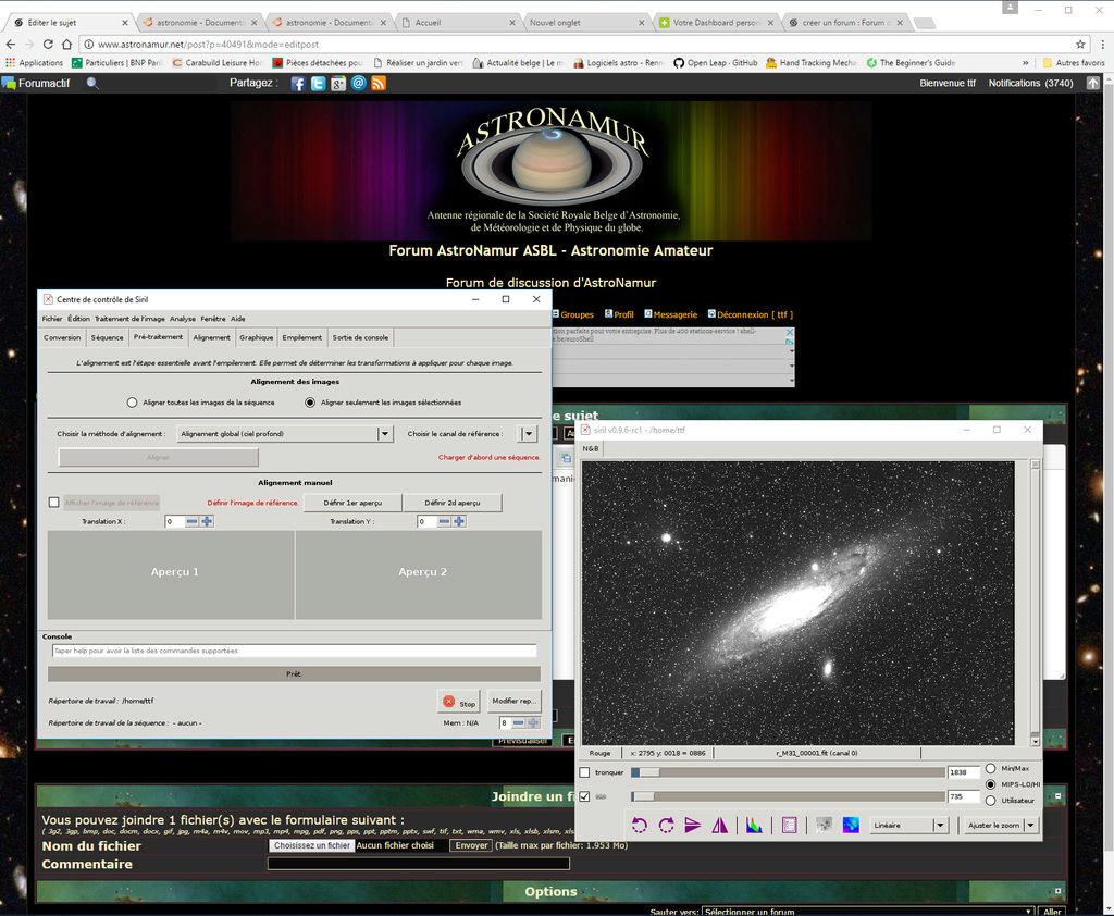 L'Astronomie sous Ubuntu Siril10