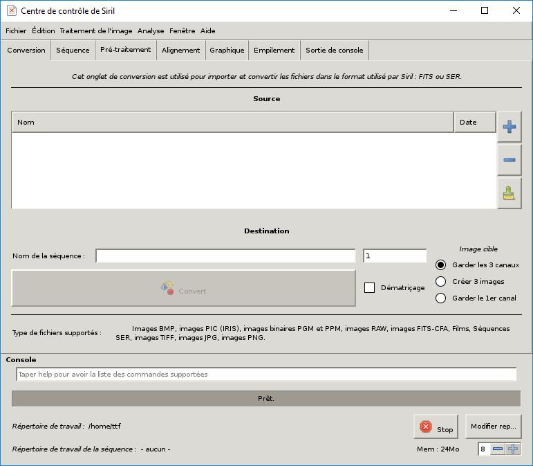 SIRIL (et les autres) sous Windows/Unbutu Xlaunc15