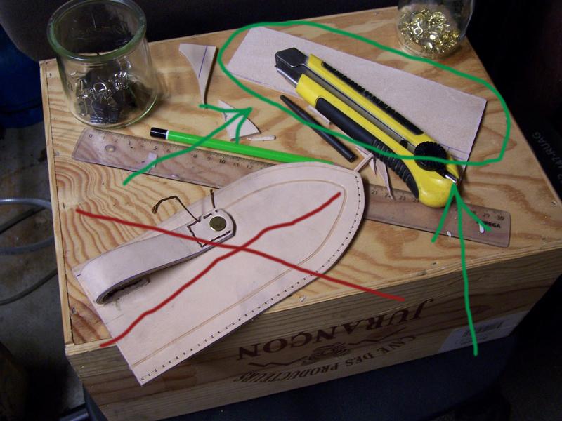 Fabrication d'un couteau G10