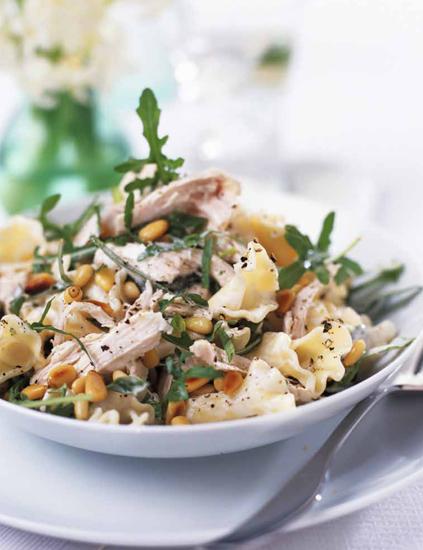 Salade de pâtes au poulet poché Salade12