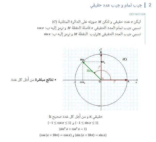 مذكرة: درس كامل: الدوال المرجعية و الدوال المثلثية - الرياضيات - السنة الاولى ثانوي علوم Bandi104