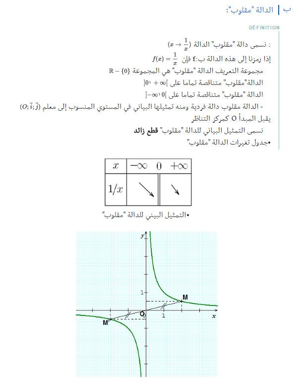 مذكرة: درس كامل: الدوال المرجعية و الدوال المثلثية - الرياضيات - السنة الاولى ثانوي علوم Bandi107