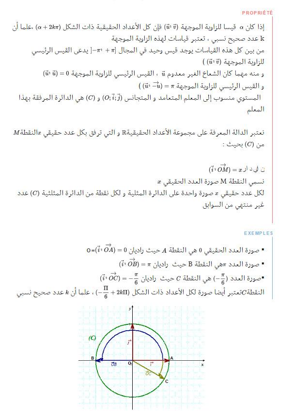 مذكرة: درس كامل: الدوال المرجعية و الدوال المثلثية - الرياضيات - السنة الاولى ثانوي علوم Bandi109