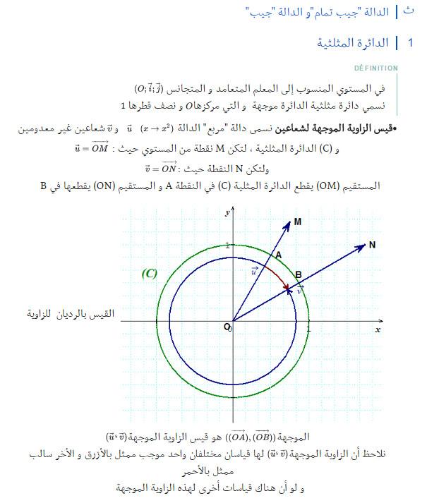 مذكرة: درس كامل: الدوال المرجعية و الدوال المثلثية - الرياضيات - السنة الاولى ثانوي علوم Bandi114