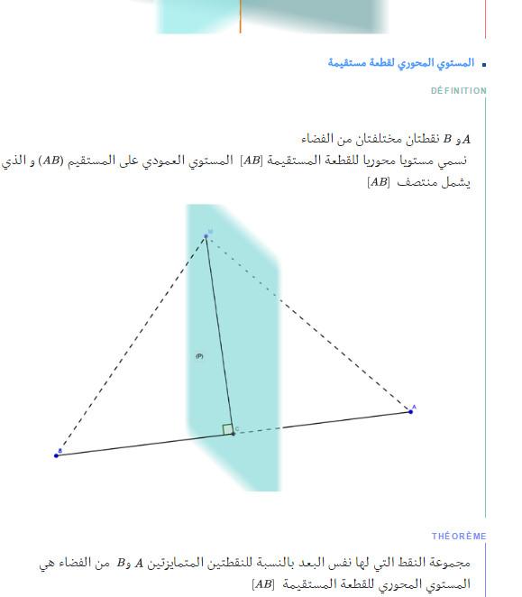 ملخص وحدة الهندسة في الفضاء - الرياضيات - السنة الاولى ثانوي علوم Bandic72