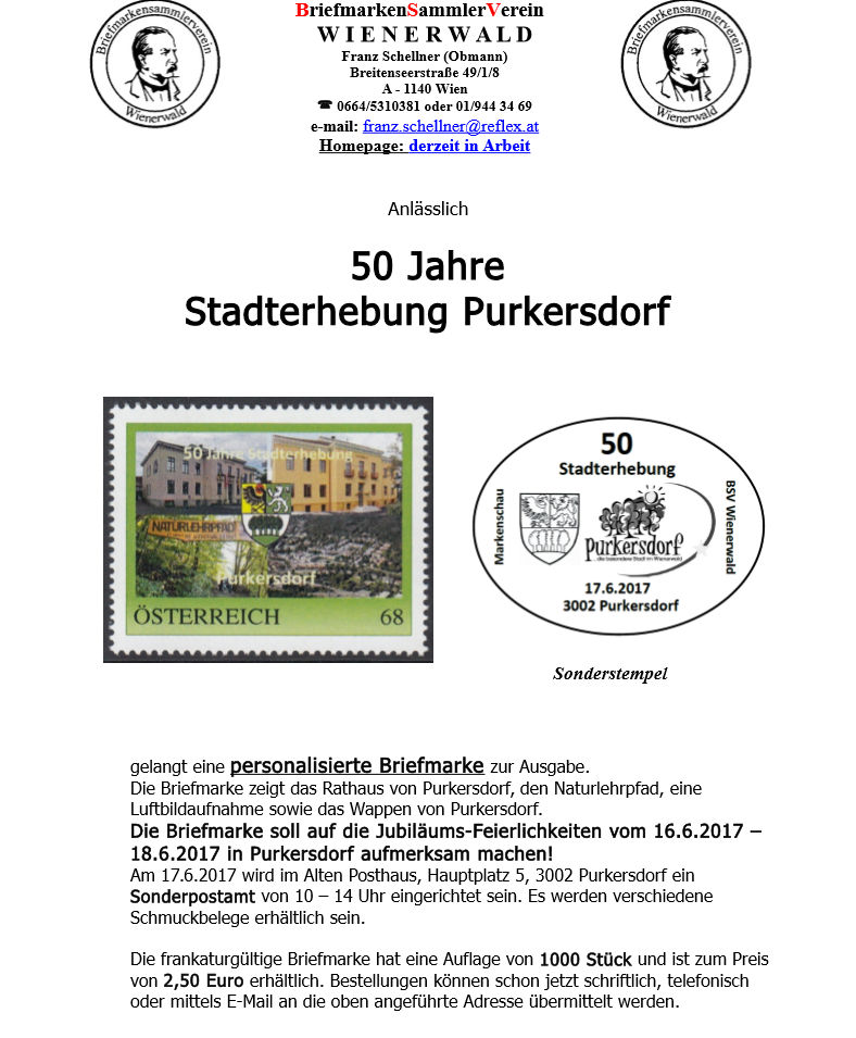 50 Jahre Stadterhebung Purkersdorf Image111