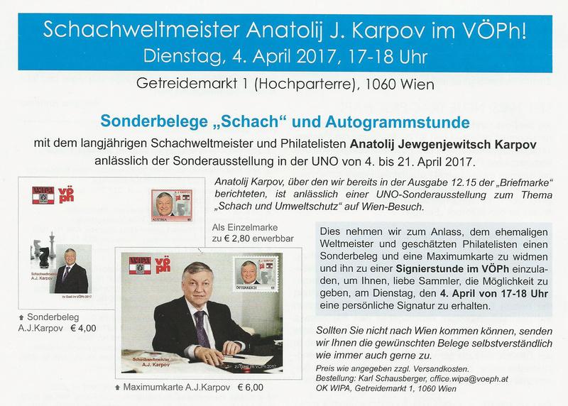Schachweltmeister Anatoli J. Karpow in der VÖPh Image311