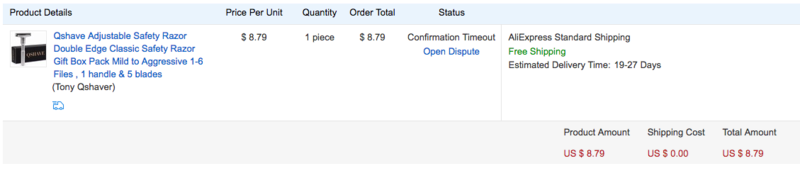 A mon tour de recevoir le rasoir réglable à < 9$ (port inclus) Screen10