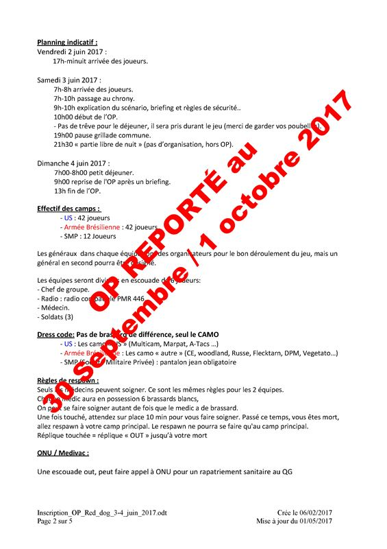 Opération Red Dog  30/09/17 et 01/10/17  Cases de Pène (Perpignan)  Inscri11