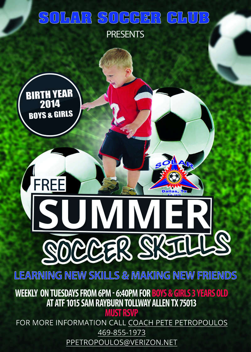 FREE skill sessions all summer for 2014 Boys and Girls  2014_s10