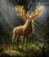 La faune de la vallée de Thrakan'raz Cerf_b10