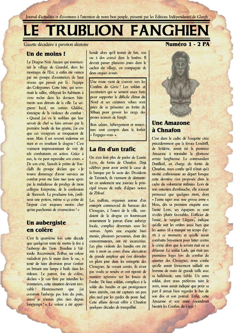 Une gazette RP pour la communauté Fangh110