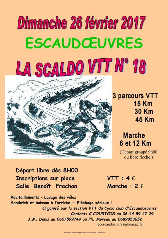 La Scaldo VTT n°18 à Escaudoeuvres le 26 février 2017 Affich10