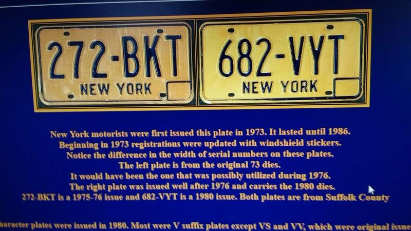 Original 1973 New York License Plates Plates10