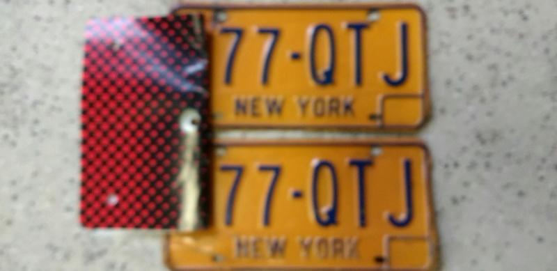 Original 1973 New York License Plates Plates11