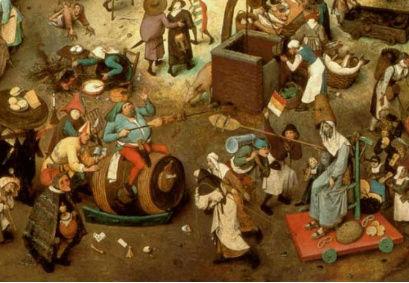 Duelo entre el carnaval y la cuaresma,  de Brueghel el Viejo Carnav11
