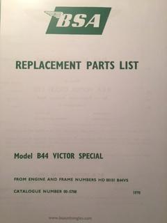 Parts list et Haynes B44 Victor Img_5410