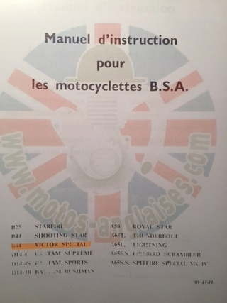 Parts list et Haynes B44 Victor Img_5411